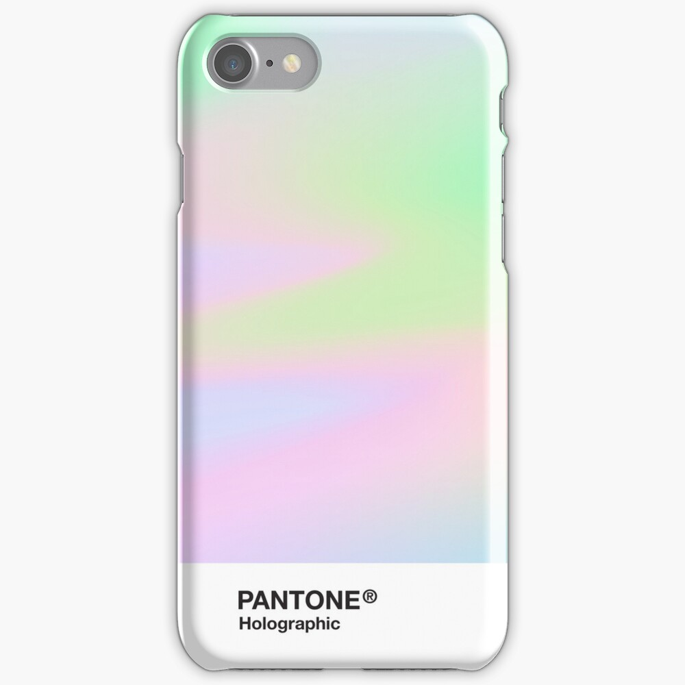 H.I.P.A.B - Holographic Iridescent Pantone Aesthetic Background pt 4 iPhone Case & Cover