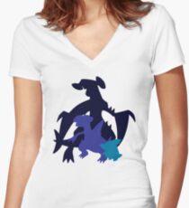Gible Gabite Garchomp Women's Fitted V-Neck T-Shirt