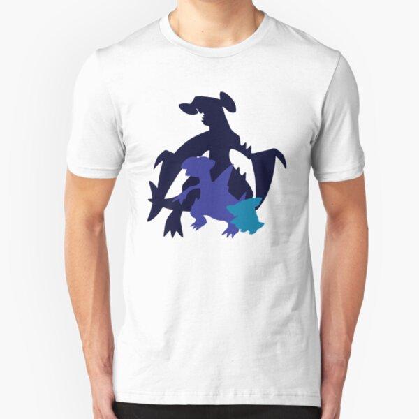 Gible Gabite Garchomp Slim Fit T-Shirt