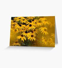 Yellow Haze Greeting Card
