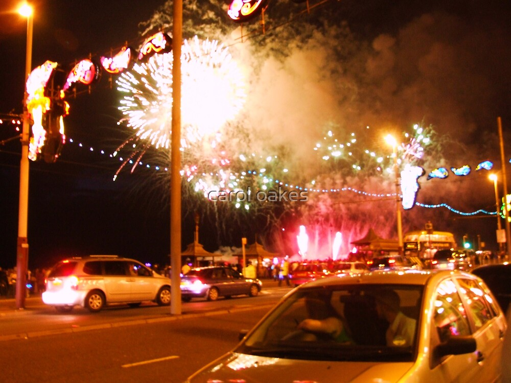 explosion firework in blackpool by carol oakes