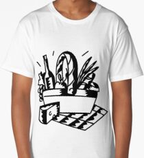 Picnic Basket Sketch Long T-Shirt