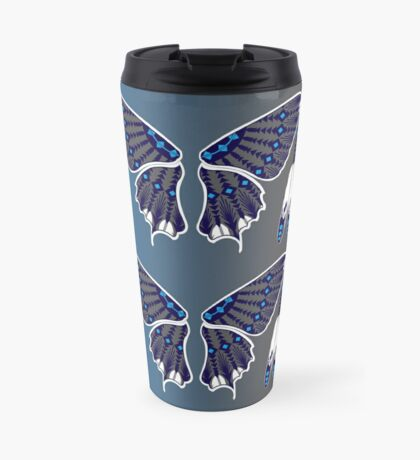 Butterfly Nation Blue Travel Mug