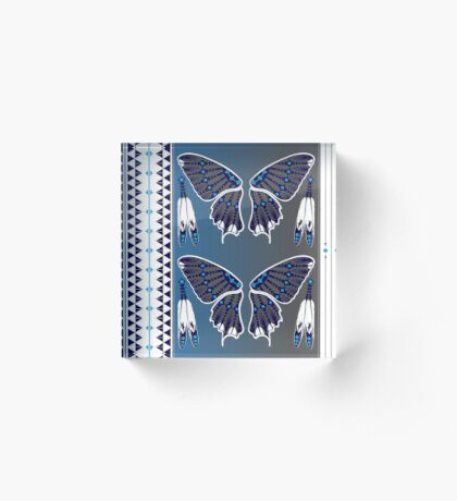 Butterfly Nation Blue Acrylic Block