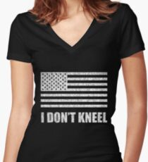 Tomi Lahren - #iStand - I Don't Kneel Women's Fitted V-Neck T-Shirt