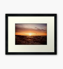 Golden Rock Pools Framed Print