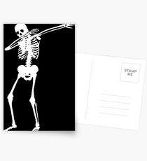 Dab Skeleton Art Postcards