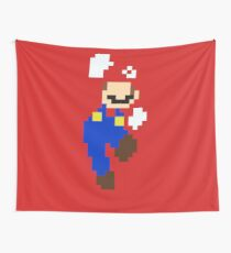 Mario pixel Wall Tapestry