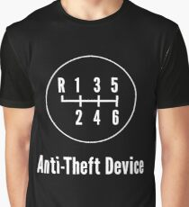 Manual Transmission: Anti-Theft Device Graphic T-Shirt