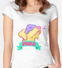Frida Pastel Vivid Women's Fitted Scoop T-Shirt