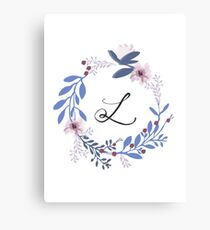 Flowers and the Letter L Canvas Print