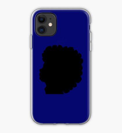 Natural Afro Hair Black women iPhone Case