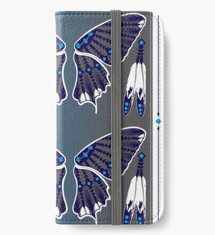 Butterfly Nation Blue iPhone Wallet