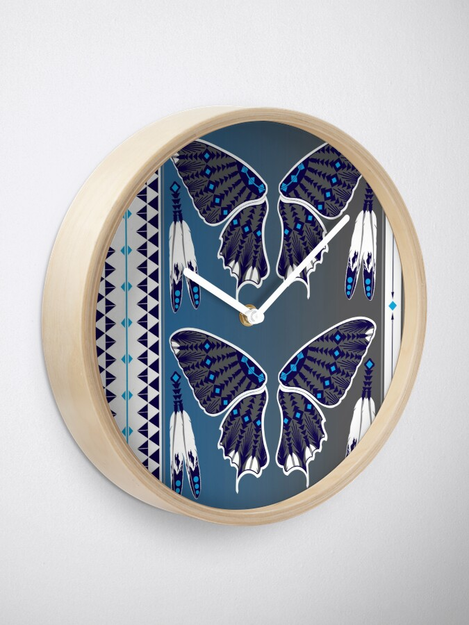 Alternate view of Butterfly Nation Blue Clock