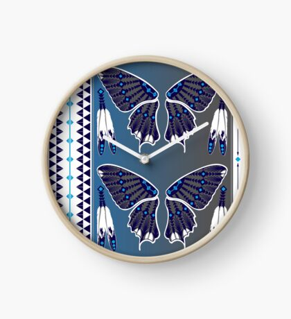 Butterfly Nation Blue Clock