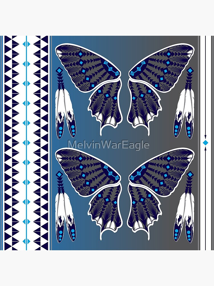 Butterfly Nation Blue by MelvinWarEagle