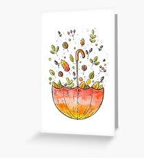 autumn umbrella  Greeting Card