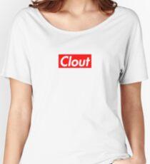 Clout Box Logo Women's Relaxed Fit T-Shirt