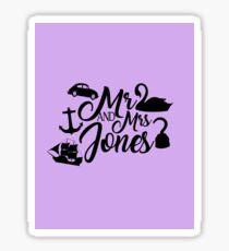 Mr and Mrs Jones Sticker