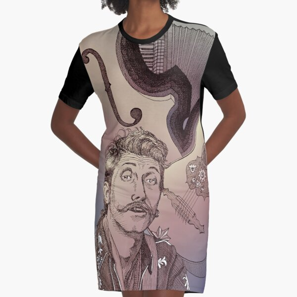 """La música de Eugene"" Graphic T-Shirt Dress"
