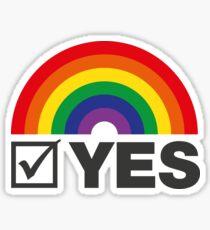 Vote Yes! - Rainbow Tick Sticker