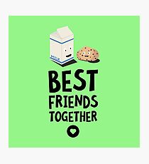 Cookies and Milk Best friends Heart R5f3b Photographic Print