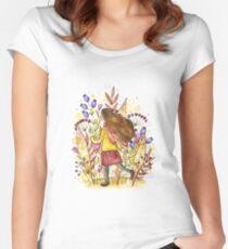 mystery garden  Women's Fitted Scoop T-Shirt