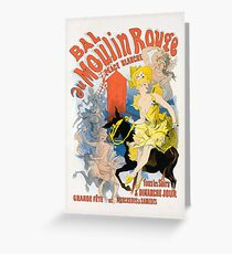 Moulin Rouge White Place ball poster 164 Greeting Card