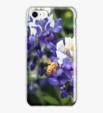 Bluebonnets and bumble bee iPhone Case/Skin