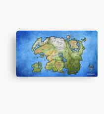 Elder Scrolls Map Canvas Print