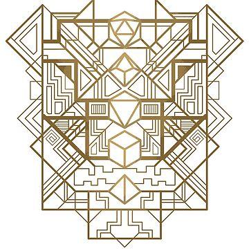 Dice Deco Gold by artlahdesigns