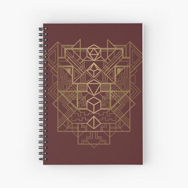 Dice Deco Gold Spiral Notebook