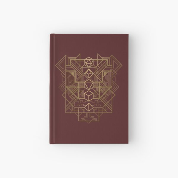 Dice Deco Gold Hardcover Journal