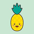 Pineapple Kawaii by dreampigment