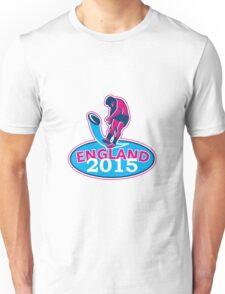 Rugby Player Kicking Ball England 2015 Retro Unisex T-Shirt