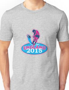 Rugby Player Kicking Ball England 2015 Retro Unisex T-Shirt