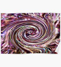 Digital Art (derived from ribbon grass plant image) Poster
