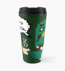 """Coo Man"" Brewster pixel art (Animal Crossing) Travel Mug"