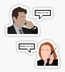 Mulder/Scully, It's Me Sticker