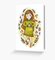 yoga girl  Greeting Card