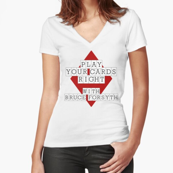 NDVH Play Your Cards Right with Bruce Forsyth Fitted V-Neck T-Shirt