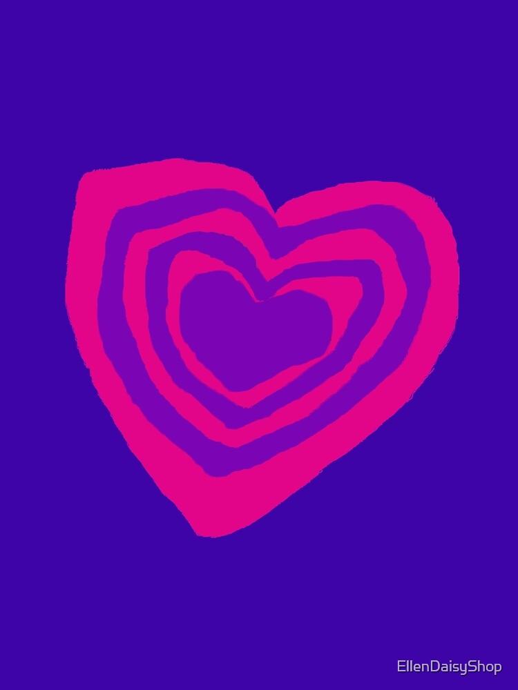 Pink Purple Hearty T-Shirt & Tees by EllenDaisyShop