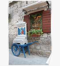Street scene in Trogir Poster