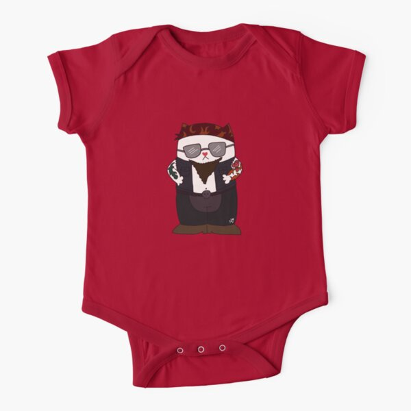 Biker Kitty Short Sleeve Baby One-Piece
