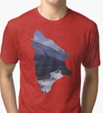 Rockies - Banff Wolf Silhouette Tri-blend T-Shirt