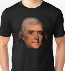 Thomas Jefferson face - Rembrandt (zwei) Unisex T-Shirt