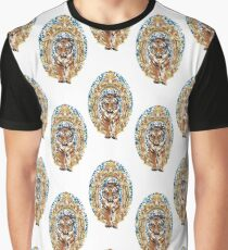 Vintage Tiger with Brass Print Graphic T-Shirt