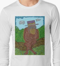 Suave Monkey Just Chillin On A Log Long Sleeve T-Shirt
