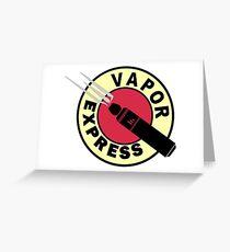 vapor express Greeting Card