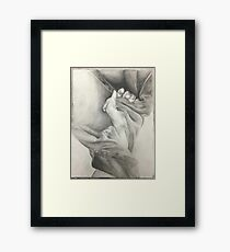 Hand drawing  Framed Print